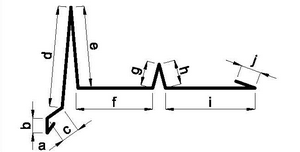 Závětrná lišta s vodní drážkou