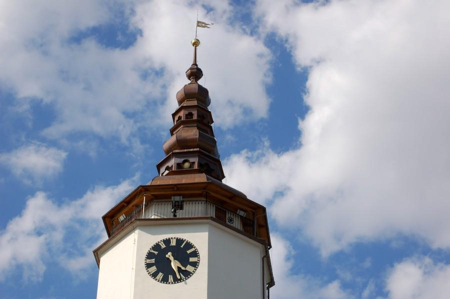 Věž kostela v Bílovci