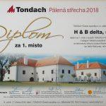 Tondach Pálená střecha 2018 - 1. místo Pokrývači sobě v kategorii Veřejně prospěšné stavby